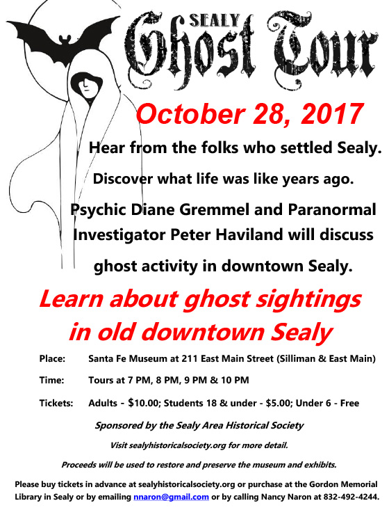 Ghost Tour Sealy 2017